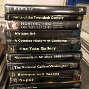 Eleven books relating to art and artists