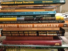 Collection of books relating to steam and traction engines