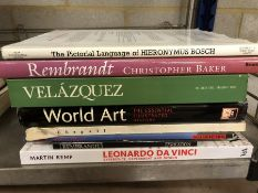Collection of books relating to art and artists
