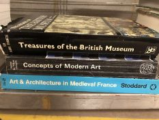Collection of books relating to art and architecture