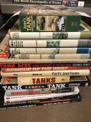 Collection of books relating to tanks