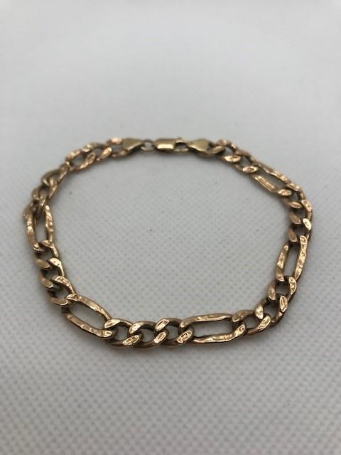 9ct Gold Bracelet marked 375 approx 5g & 20cm llong