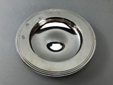 Silver hallmarked London Dish by Mappin & Webb approx 168g with paperwork for the Armada Dish