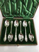 Set of Victorian/ Edwardian teaspoons Sheffield 1901 by James Deakin & Sons approx 67g