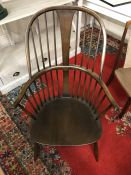 Stick back Elbow chair in the Ercol style