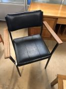 Mid-century Black stylish office chair with metal frame