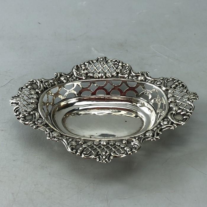Edwardian Hallmarked Birmingham Silver bon bon dish approx 46g 1904