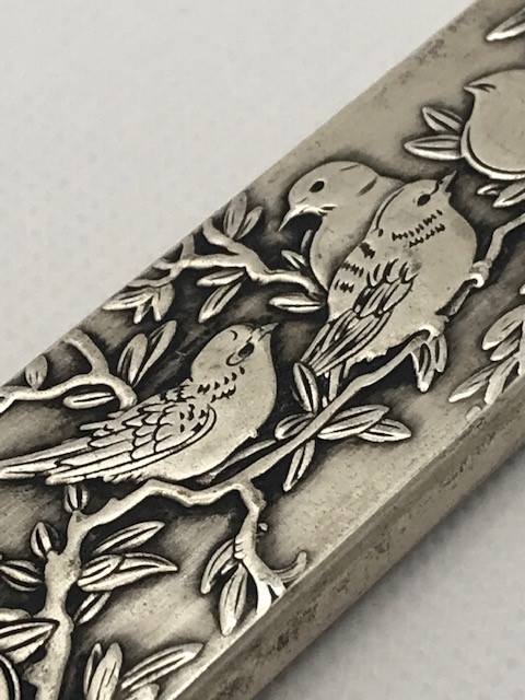 Chinese scroll weight, Silver with Chinese characters to reverse approx 23cm - Image 4 of 6