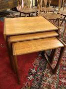 Nest of three mid-century coffee tables