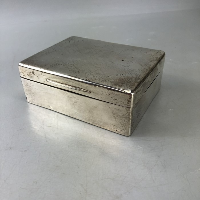 Silver Hallmarked Cigarette box 11.5 x 9 x 4.3cm approx 357g inscribed J.N.C Birmingham by C & Co - Image 6 of 8