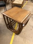 Nest of three G-Plan side tables mid-century style