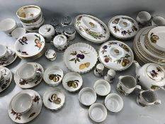 Various Royal Worcester Evesham pattern dinnerware and teaset