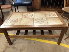 Mid-century tile topped coffee table
