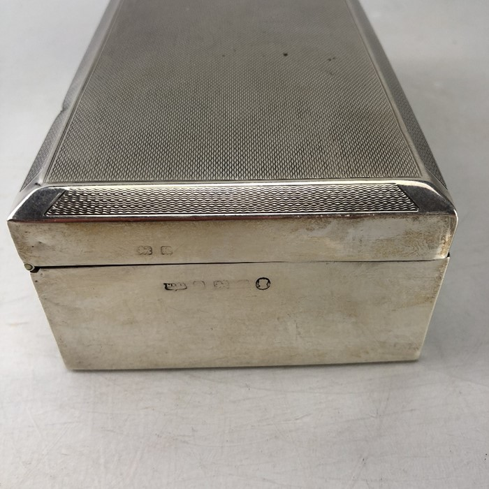 Mappin & Web Hallmarked Silver cigarette box total weight approx 434g - Image 7 of 8