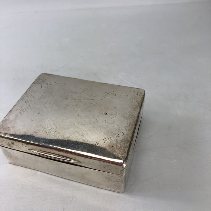 Silver Hallmarked Cigarette box 11.5 x 9 x 4.3cm approx 357g inscribed J.N.C Birmingham by C & Co - Image 7 of 8