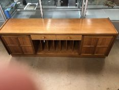 Mid-century long low sideboard