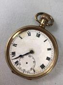 Gold Plated Watch, winds & runs, A/F