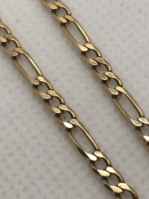Hallmarked 9ct 375 Gold necklace with hallmarked bar approx 44cm & 8.7g - Image 4 of 7