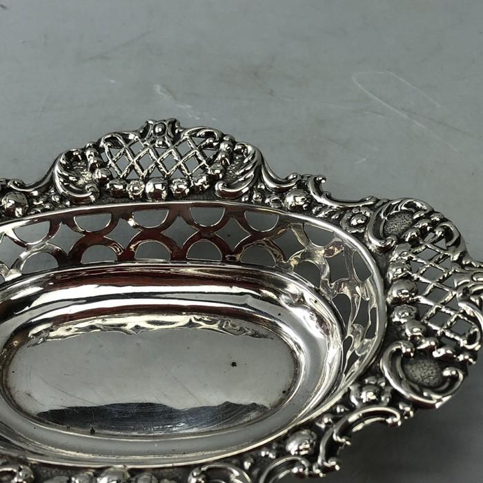 Edwardian Hallmarked Birmingham Silver bon bon dish approx 46g 1904 - Image 2 of 6