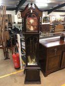 Modern grandfather clock by Lincoln, 31 day, with weights pendulum and instructions