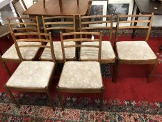 Set of six mid-century style dining chairs