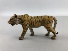 Cold painted figure of a tiger
