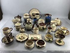 Collection of Torquay ware