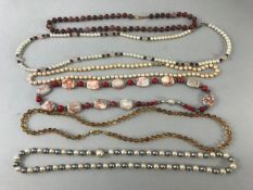 Collection of six attractive bead necklaces