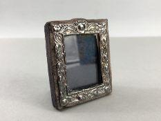 Miniature Hallmarked Silver photo frame London by Keyford Frames Ltd approx 5.5 x 6.5cm