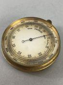 Antique pocket barometer in original case