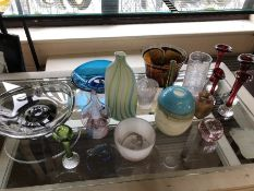 Collection of art glass to include Holngaard bowl, approx 16 pieces