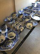 Spode Italian pattern tea and dinnerware,