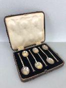 Hallmarked Silver coffee spoons Birmingham (approx 58g)