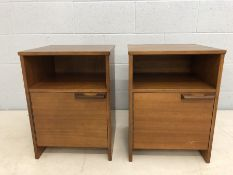 Two Mid Century Avalon bedside cabinets
