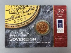 Gold Sovereign in original Royal Mint slab Year 2000