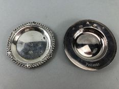 Two Hallmarhed Silver dishes total weight approx 92g