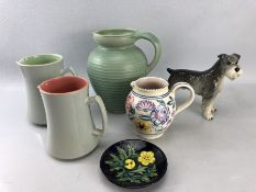 Collection of ceramics to include Langley, Moorcroft and Poole (and a Dog)