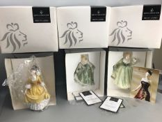 Three boxed Royal Doulton Figurines: Lily, Coralie & Fair Lady