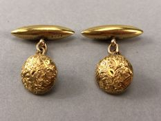 Pair of 15ct Gold cufflinks (total weight approx 5.2g)