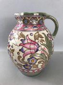 Charlotte Rhead jug approx 25cm tall