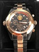 """MANCHESTER UNITED: A limited edition gents watch/wristwatch issued by Manchester United """"EUROPEAN"""