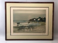"""GEORGES LAPORTE (1926-2000): Artists Proof (Marked """"EA"""" and signed by artist in pencil) of a quiet"""