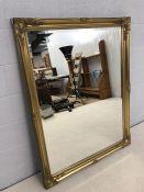 Large bevel-edged gilt framed mirror, approx 138cm x 105cm