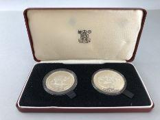 Royal Mint Venezuela 1975 25 & 50 Bolivares Jaguar & Armadillo Conservation UNC Silver boxed coin