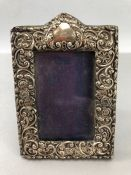 Silver Hallmarked Chester maker James Deakin & Sons Photoframe with unmarked Cartouche