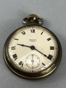 Smiths Empire pocket watch with engine turned case, top winder ticks and runs. Boxed