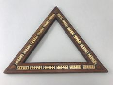 Antique Triangle Inlaid Crib Board