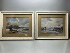 """THOMAS SIDNEY (19TH/20TH CENTURY): Pair of Watercolours both signed both 35 x 25cm. Entitled """"The"""