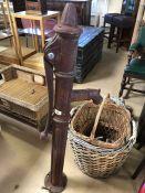 Large vintage cast iron water pump