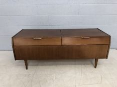 Mid Century, previously a gramophone cabinet, soon to be a sideboard in Shoreditch with two chrome